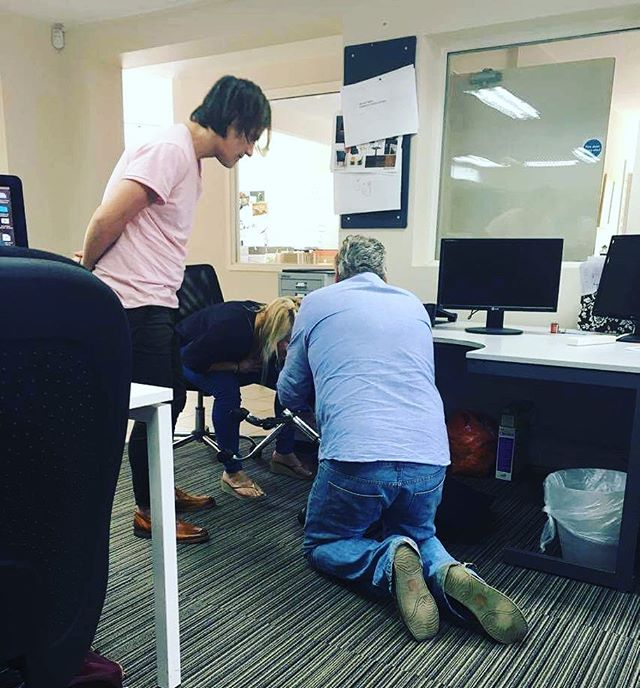 How many senior designers does it take to fix a chair?