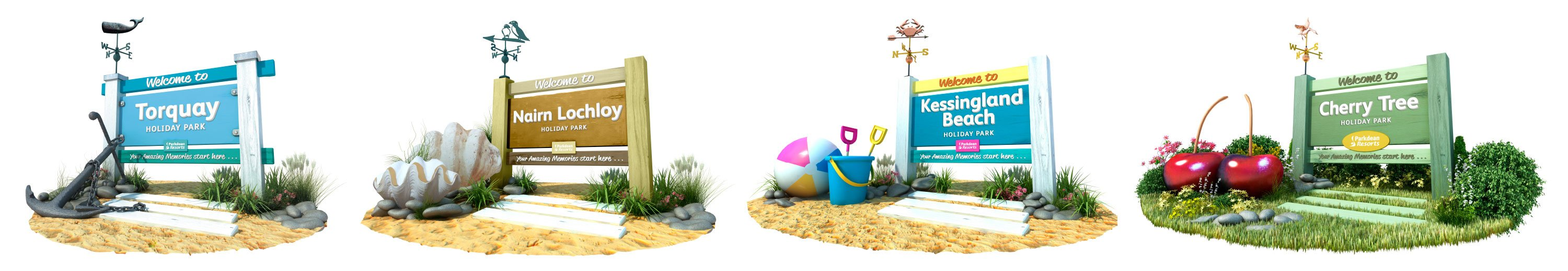 Parkdean Resorts entrance signage proposal