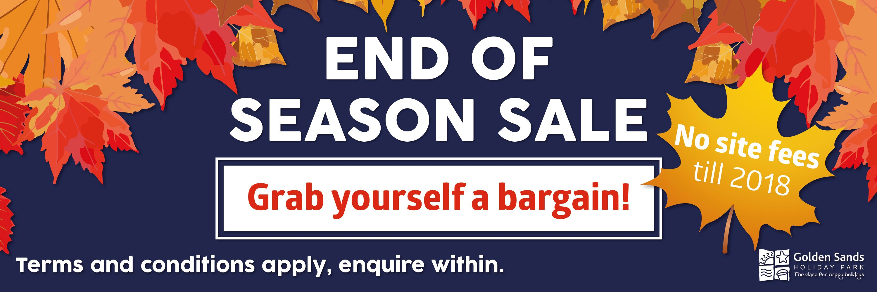 End of Season Sale banner