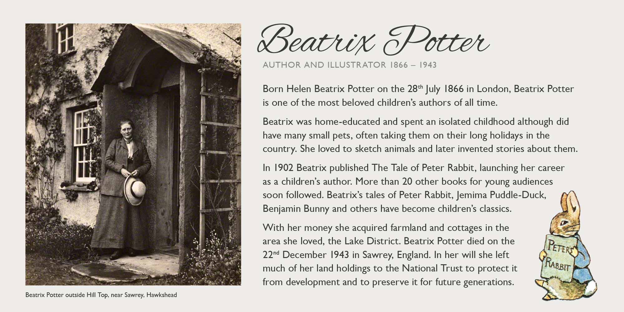 Beatrix Potter info panel