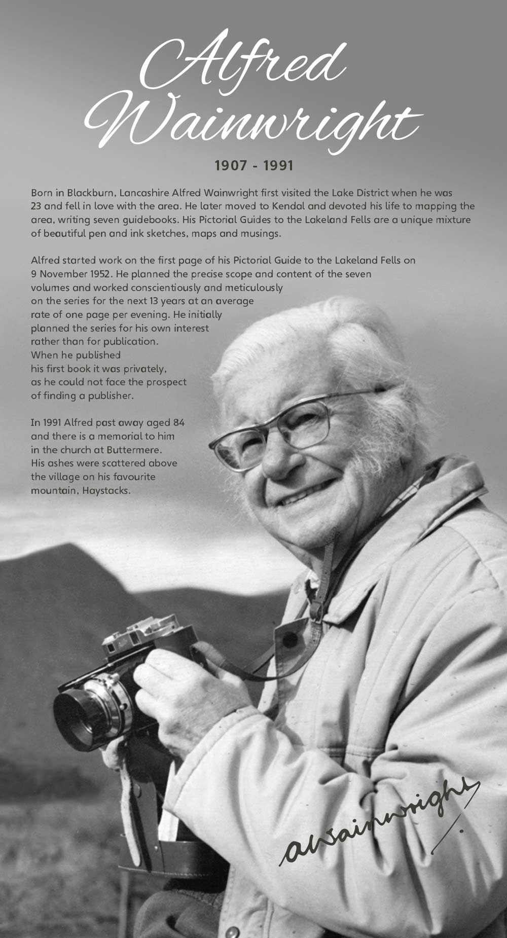 Alfred Wainwright info panel