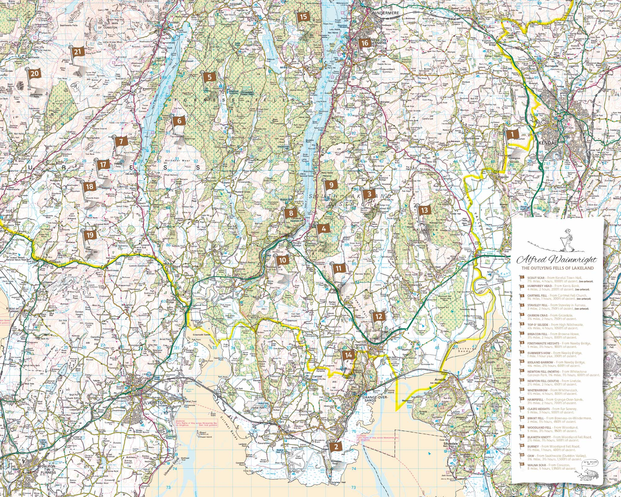 Alfred Wainwright feature OS map