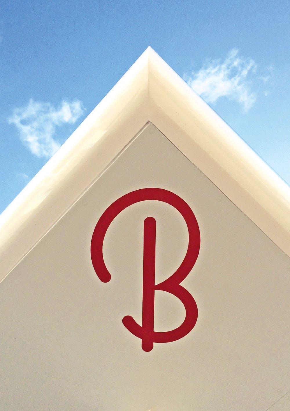 Butlin's B logo detailing