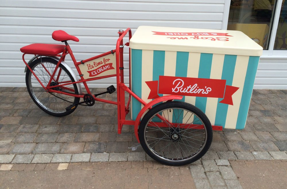 Old fashioned ice cream tricycle