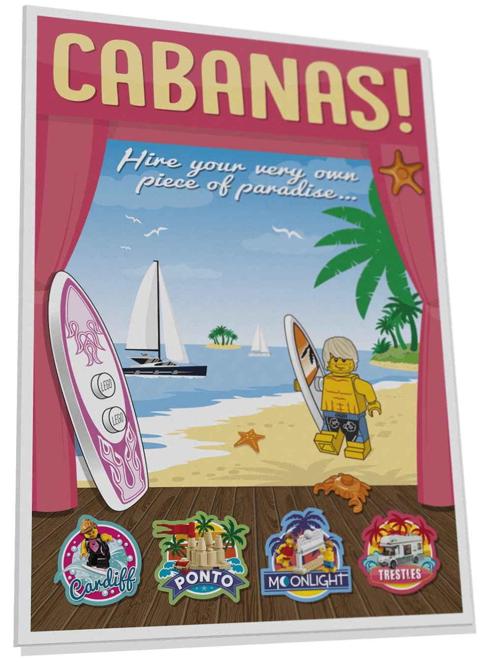 Cabanas poster for Surfers' Cove