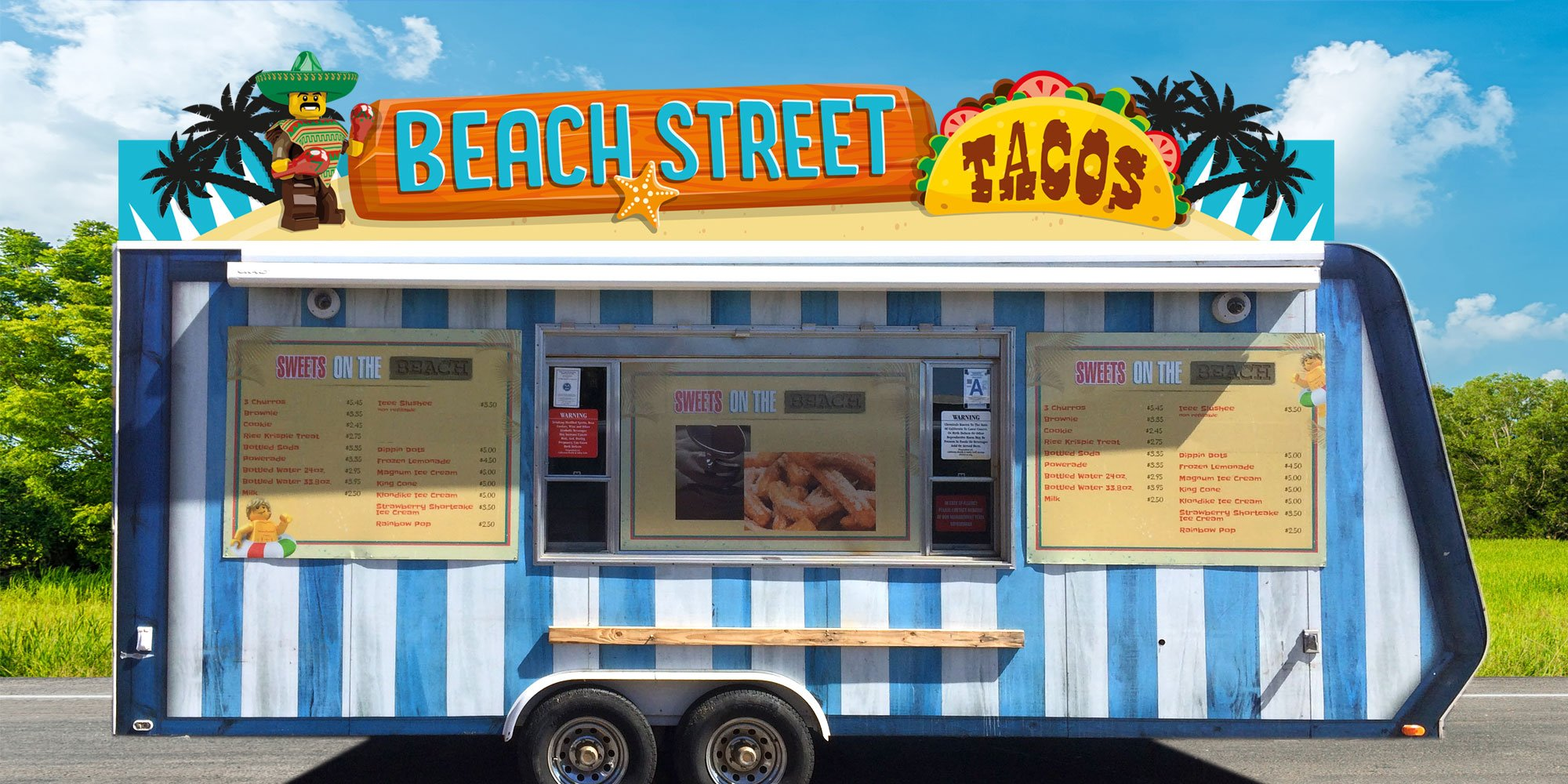 Beach Street Tacos van treatment for Surfers' Cove